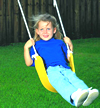 Swingset Parts :: Seats :: Replacement Home and Residential Rubber Belt Seats Non-USA with Rope